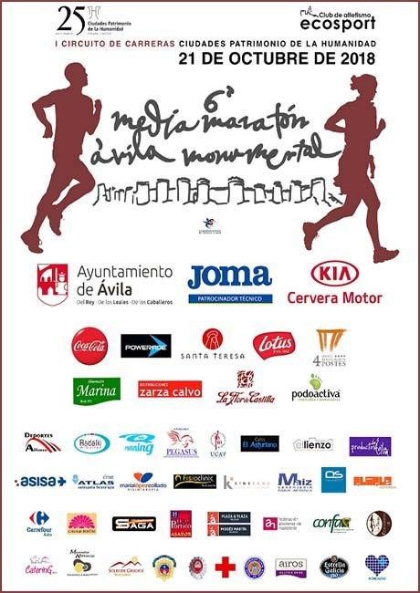 Media Maratón Ávila Monumental 2018