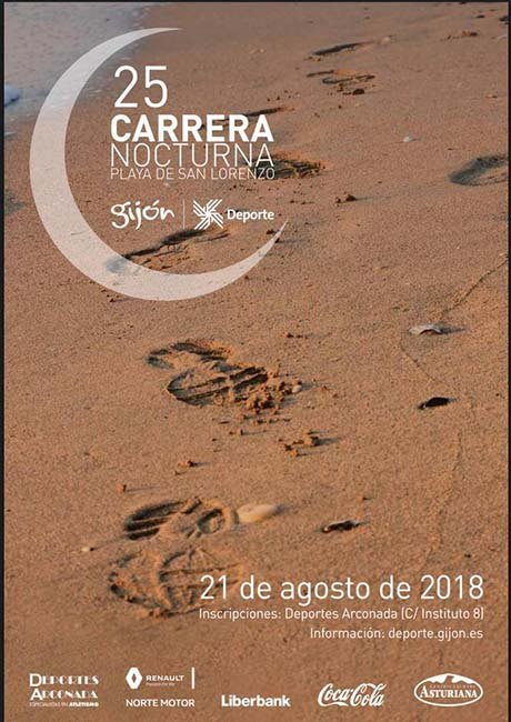 Carrera Nocturna Playa de San Lorenzo 2018