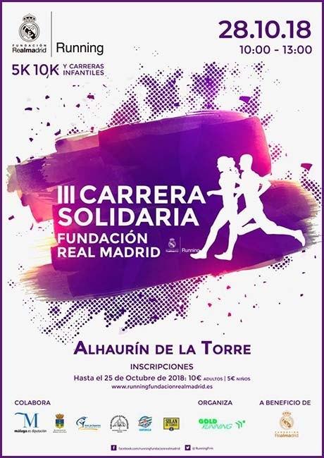Carrera Solidaria Fundación del Real Madrid 2018 Alhaurín de la Torre