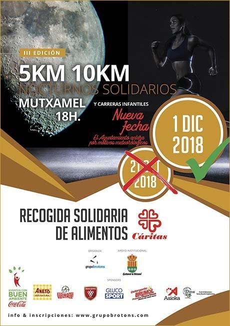 5 Km y 10 Km Nocturnos Solidarios de Mutxamel 2018