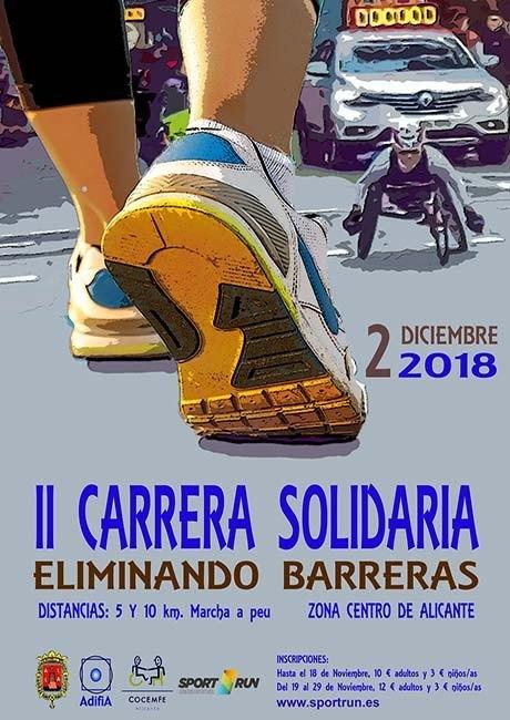 Carrera Solidaria Eliminando Barreras Alicante 2018