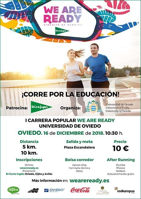 Carrera Popular We Are Ready Universidad de Oviedo 2018