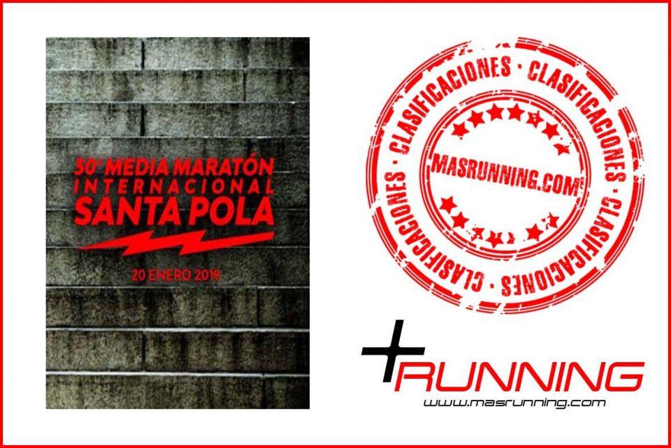 resultados Media Maratón Internacional de Santa Pola 2019