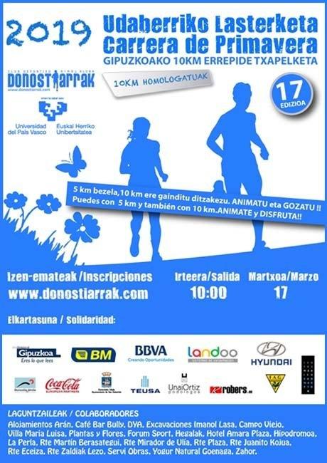 Carrera de Primavera Donostiarrak UPV EHU 2019