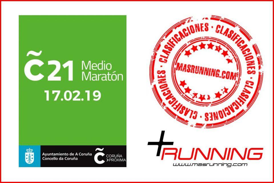 resultados Media Maratón Coruña 21 2019