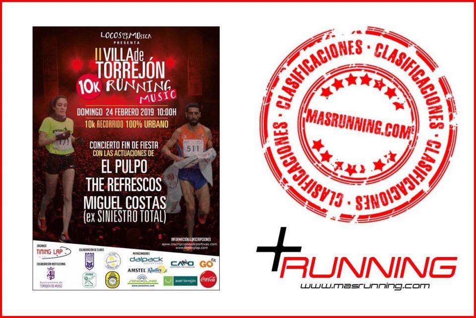 resultados Villa de Torrejón 10K Running Music 2019