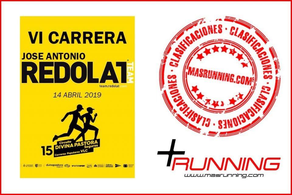 resultados Carrera José Antonio Redolat 2019